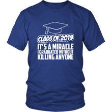 Load image into Gallery viewer, It's A Miracle - Class Of 2019 Shirts Ideas - Blue