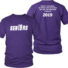 Load image into Gallery viewer, Mighty and Mean - Senior 2019 Shirts