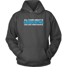 Load image into Gallery viewer, All I Care About Is Graduating - 2019 Senior Hoodie - Charcoal