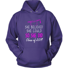 Load image into Gallery viewer, She Believed She Could - Class of 2019 Hoodie - Purple