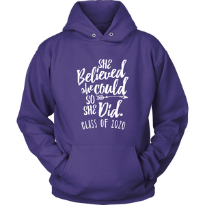 She Believed She Could - Class of 2020 Sweatshirt - Purple