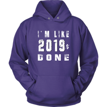 Load image into Gallery viewer, Class Of 2019 Senior Hoodies - 2019% Done - Purple
