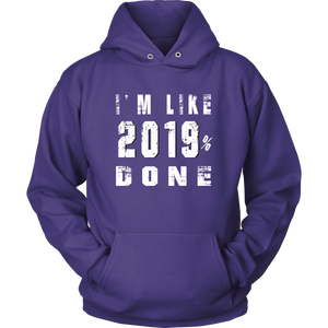 Class Of 2019 Senior Hoodies - 2019% Done - Purple