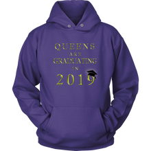 Load image into Gallery viewer, Queens Are Graduating In 2019 - Senior Class of 2019 Hoodie - Purple
