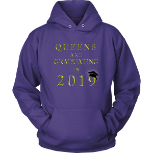 Queens Are Graduating In 2019 - Senior Class of 2019 Hoodie - Purple