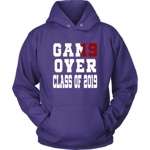 Game Over - Graduation Hoodies - Purple