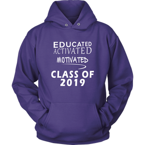 Educated Activated Motivated - Class of 2019 hoodie - Purple