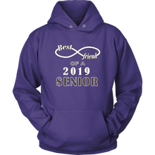 Load image into Gallery viewer, Senior Class Of 2019 Hoodie - Best Friend Of A 2019 Senior - Purple