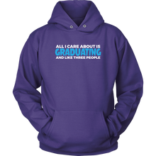 Load image into Gallery viewer, All I Care About Is Graduating - 2019 Senior Hoodie - Purple