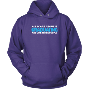 All I Care About Is Graduating - 2019 Senior Hoodie - Purple