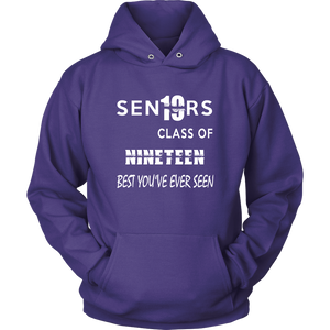 Senior Class of 2019 Hoodie - Purple