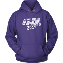 Load image into Gallery viewer, We Will Be Heard - Class of 2019 Hoodies - Purple