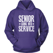 Load image into Gallery viewer, Senior Going Into Service - Class of 2019 Senior Hoodies - Purple