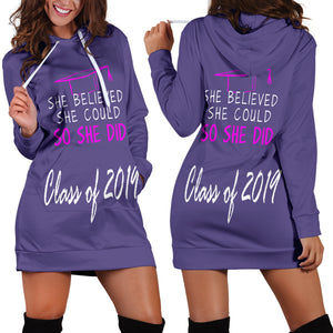 She Believed She Could So She Did - Women's Hoodie Dress