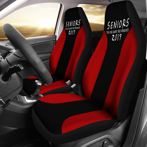 Seniors 2019 Red Color Car Seat Covers - The One Where They Graduate