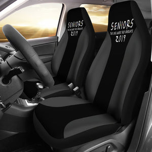 Seniors 2019 Grey Color Car Seat Covers - The One Where They Graduate