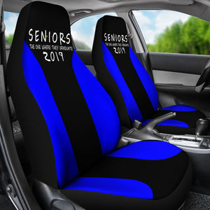 Seniors 2019 Blue Color Car Seat Covers - The One Where They Graduate
