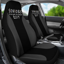 Load image into Gallery viewer, Seniors 2019 Grey Color Car Seat Covers - The One Where They Graduate