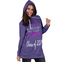 Load image into Gallery viewer, She Believed She Could So She Did - Women's Hoodie Dress