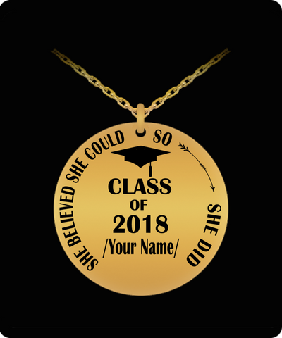 Personalized Graduation Necklace - Class of 2018