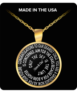 Only The Sky Is The Limit - Graduation Gift Gold Plated