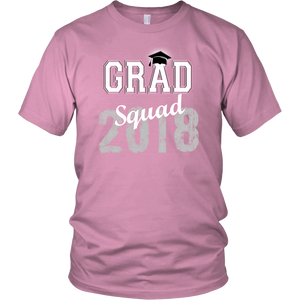 2018 Grad Squad T shirts - Graduation Shirts For Family - Pink