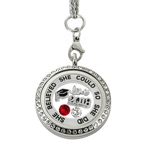 She believed she could Graduation 2018 memory locket - graduation gifts - My Class Shop