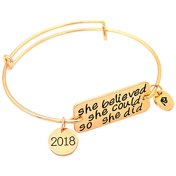 "Senior jewelry 2018 - Graduation Bracelet ""She Believed"""