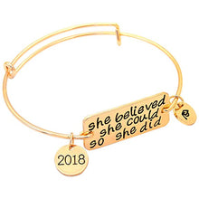 "Load image into Gallery viewer, Senior jewelry 2018 - Graduation Bracelet ""She Believed"""