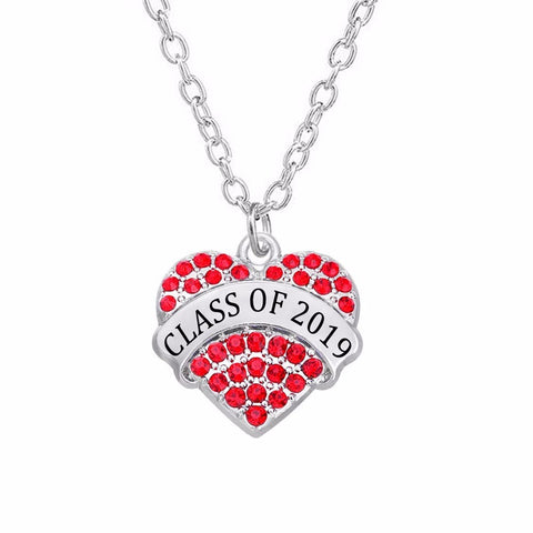 Red Heart - necklace for graduation