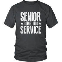 Load image into Gallery viewer, Senior Going Into Service - Class of 2019 T-shirt - Charcoal