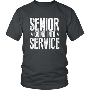 Senior Going Into Service - Class of 2019 T-shirt - Charcoal