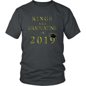 Kings Are Graduating In 2019 - Class of 2019 Shirt - Charcoal