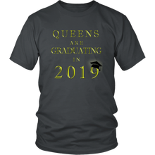 Load image into Gallery viewer, Queens Are Graduating In 2019 - Senior 2019 Shirt - Charcoal