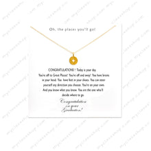 Load image into Gallery viewer, Oh the places you'll go - Graduation Necklace 2018