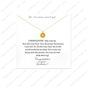 Oh the places you'll go - Graduation Necklace 2018
