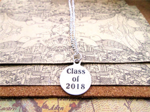 "Stainless Steel Circle""Class of 2018""-Graduation necklaces - My Class Shop"