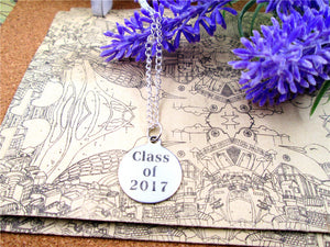 Stainless Steel Circle Class of 2017  Necklace - My Class Shop