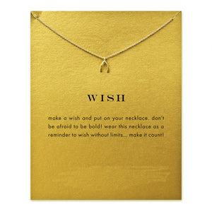 Wish Gold Dipped Necklace - My Class Shop