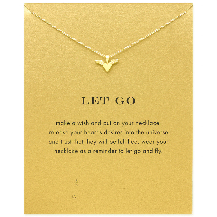 Let Go Gold Dipped Necklace - My Class Shop