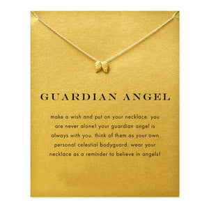 Guardian Angel Wing Charm Necklace - My Class Shop