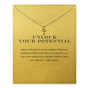 Your Potential Key Gold Dipped Necklace - My Class Shop