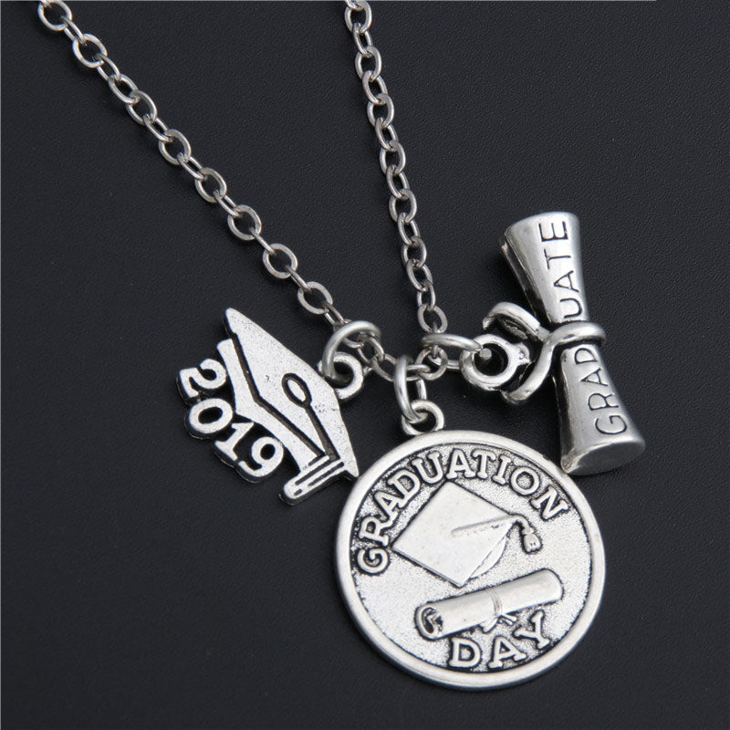 Class of 2019 Necklace With Charms