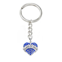 Load image into Gallery viewer, Color Heart Shaped Class Of 2019 Keyholders