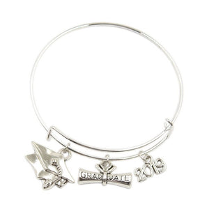 Class of 2019 - Graduation Bangle Bracelet With Cap