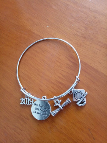 Class of 2019 Bangle Bracelet