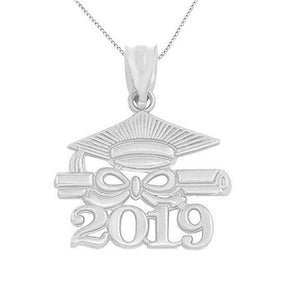 Class of 2019 Necklaces With Graduation Cap