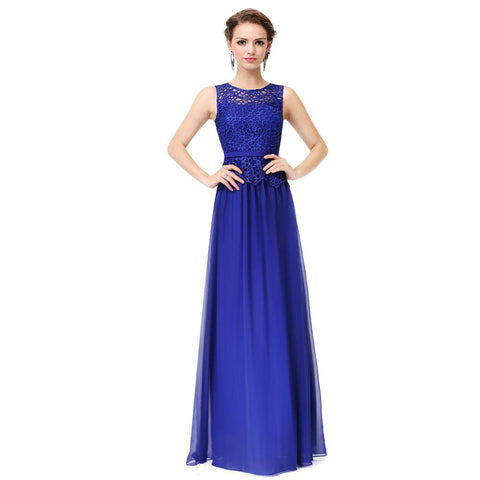 O-neck Sleeveless Prom Dresses-Prom dresses under 100
