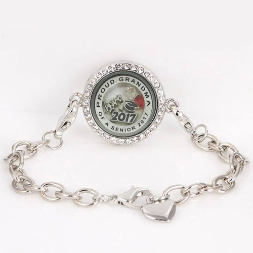 Proud Grandma Of A Senior 2017 bracelet-Graduation gifts for her - My Class Shop
