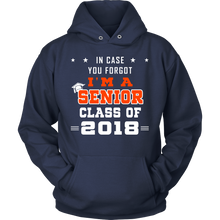 Load image into Gallery viewer, In Case You Forgot-  Senior hoodies 2018